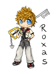 Roxas- Kingdom Hearts- chibi sketch by Eeveelutions95