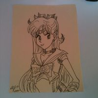Inktober 16- Sailor Venus by Lance-Danger