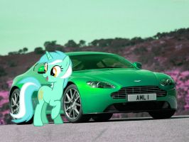 Lyra Heartstrings and her Aston Martin V8 by alerkina2