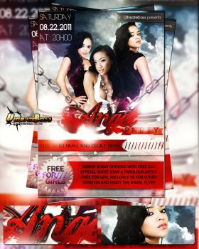 FREE PSD ANGEL PARTY FLYER by ultimateboss