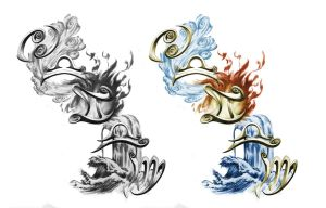element Tattoo Design by xjager513
