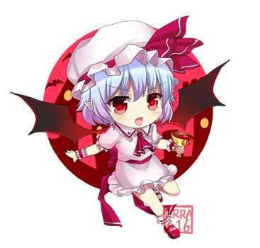 Remilia Scarlet Commisioned by Kareyare by Erra616