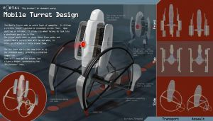 Portal Design - Mobile Turret by Zirngibl