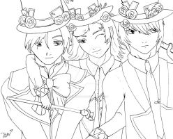 Hatter family lineart by TheLadyFaith