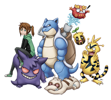 My pokemon team by AtomicRay