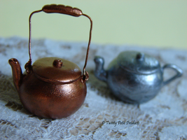 Copper and Aluminum Teapots by birdielover