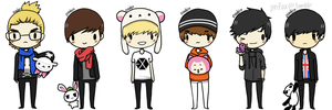 EXO-M + plushies by sasoriluver101