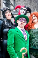 Riddler and the Gotham sirens by MatsErofdisguise