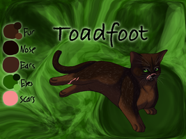 Toadfoot of ShadowClan - Trail of Ashes by Jayie-The-Hufflepuff