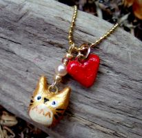 Gold totoro charm necklace by yael360