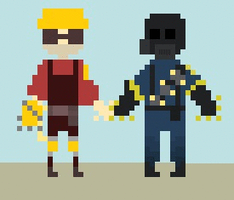 Pyro and Engie gif by DarkMisaRussia