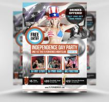 4th of July Flyer Template by quickandeasy1