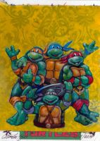 TMNT artist proof by charles-hall