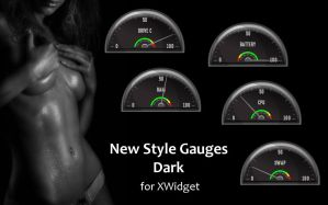 New Style Gauges Dark for xwidget by jimking