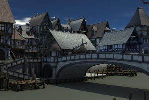 medieval village 4 by indigodeep