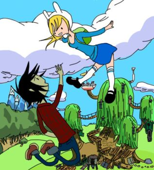 Fionna and Marshall Lee by Forgottencookie1