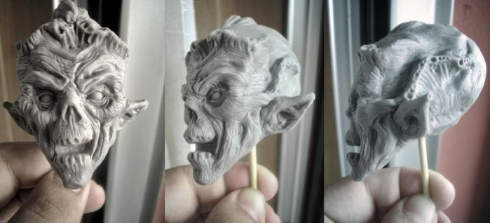 Demon head wip by OniBaka
