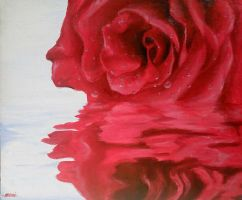 Rose On The Water by ChameirraBarnes