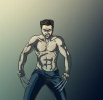 Screaming Grunting Sexy Shirtless Man by FeatherButtTM