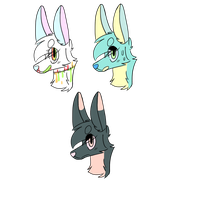 Headshot Adoptables by Dragon-Flowers