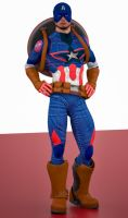 Cap America age of ultron 2nd skin textures for M4 by hiram67