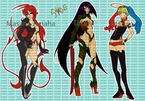 Witchblade Bookmarks WIP by RenaInnocenti