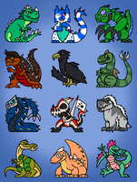DA Kaiju Chibis by DinoHunter2