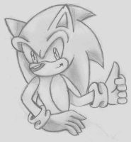 Sonic sketch by BloomPhantom