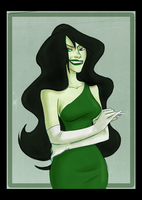 Disney Shego by sapphicspencil
