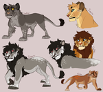 More Lion OCs. :I by Mikaces
