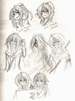 PC Twin Sketches~ by IkuRyo