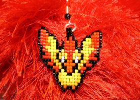 Moltres Earring by purpleyoshi1