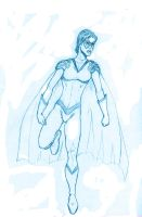 BLUE SKETCH 26  Ultra Woman by Mich974