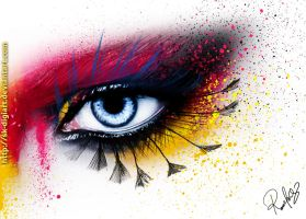 Beauty Eye   ! by SK-DIGIART