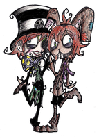 The Hatter and The Hare by RingoNakishima