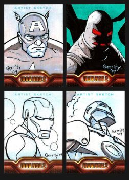 Iron Man Sketch Cards by mebooky
