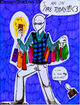 I AM ON FIRE TODAY!!!_Trenderman and Slenderman by crescentshadows19