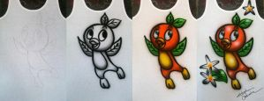 Orange Bird Airbrush by StephanieCassataArt