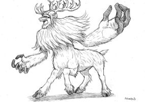 Monster Point, Reindeer Centaur by heivais