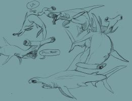 Shark Week--Great Hammerhead by Morag-I