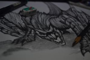 Hand drawing 2 (Monster Hunter) by ElaineyYong