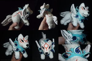 Commission: Okami Amaterasu Tundra beads by goiku