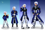 Commission: Evolution of Romeo Frost by manu-chann