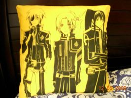 D Gary Man pillow and SOLD OUT by jaysanzo
