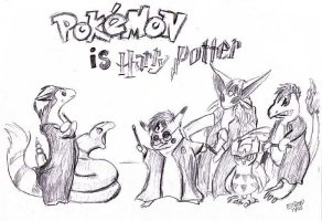 Pokemon and Harry Potter by Eliza-the-artist