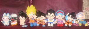 DBZ Plushies by Dbzbabe
