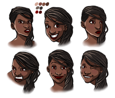 Genie Head Sketches by PayLe