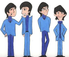 The Beatles Cartoon by johnpaulgeorgeringo6