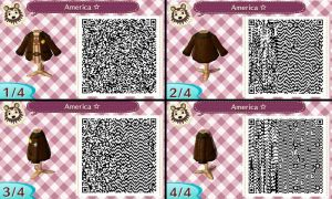 Animal Crossing NL QR Code - Hetalia - America by hearts2love16