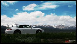 Sawtooth Porsche by CPhotographic